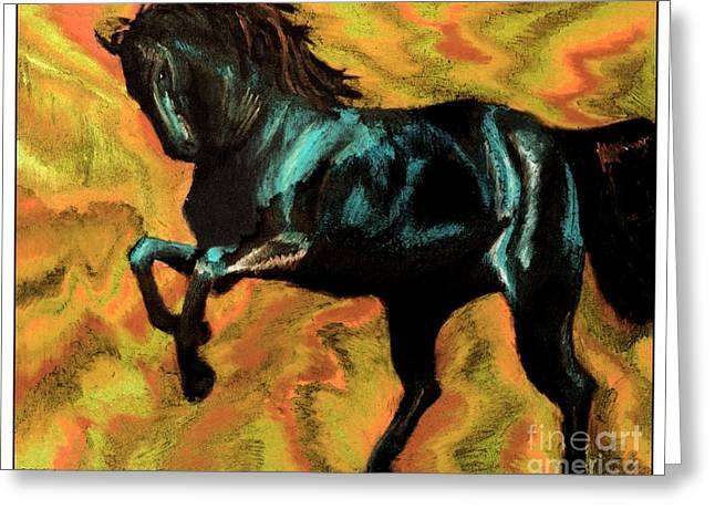 White Tail Pastels Greeting Cards - Rising Storm II Greeting Card by J M Lister