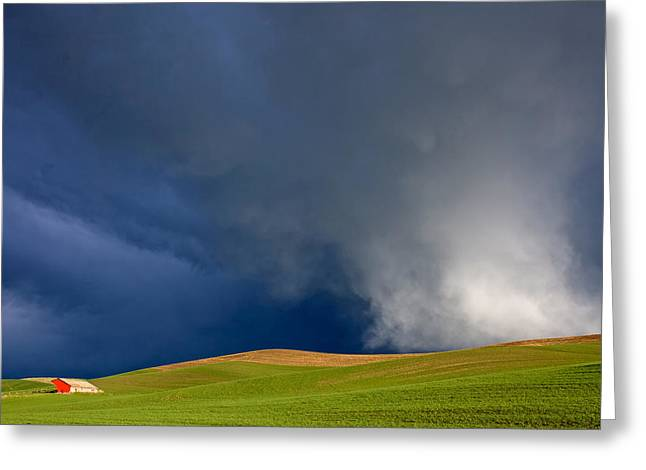 Dereske Greeting Cards - Rising Storm Over the Palouse Greeting Card by Mary Lee Dereske