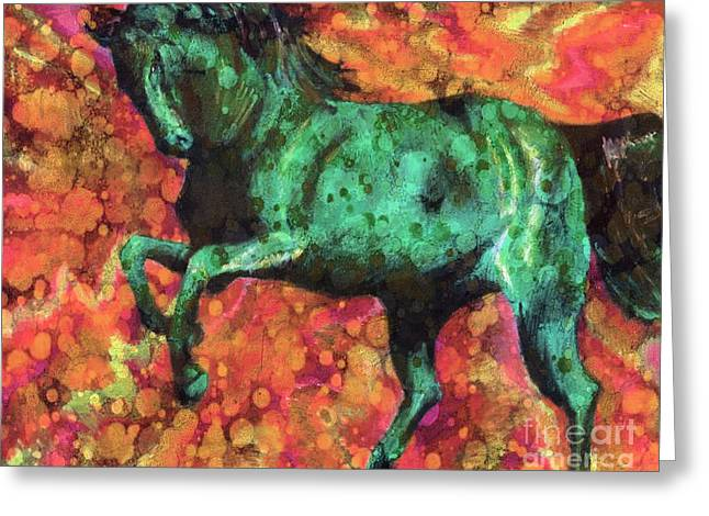 White Tail Pastels Greeting Cards - Rising Storm XII Greeting Card by J M Lister