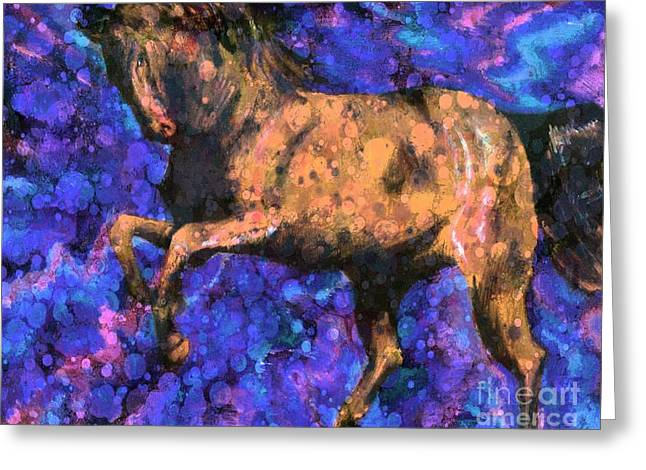 White Tail Pastels Greeting Cards - Rising Storm XIV Greeting Card by J M Lister