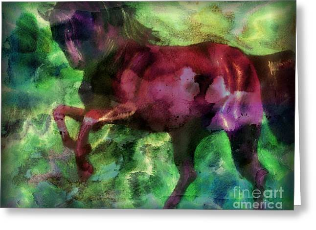 White Tail Pastels Greeting Cards - Rising Storm XX Greeting Card by J M Lister