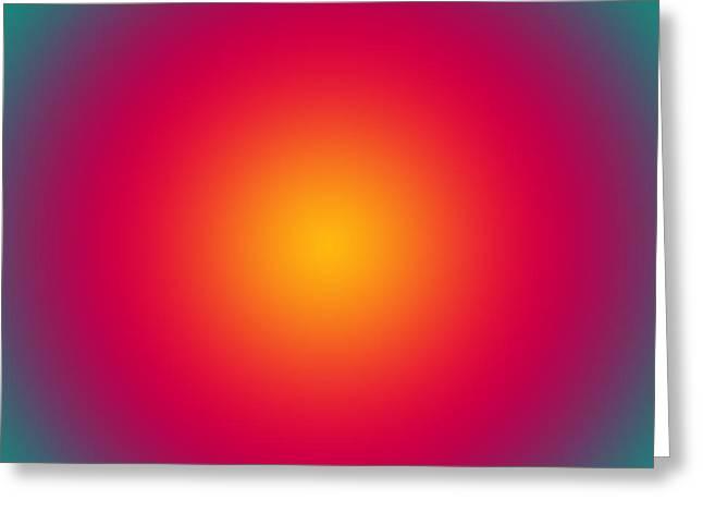 Mesmerizing Greeting Cards - Rising Sun color harmony Greeting Card by Gaspar Avila