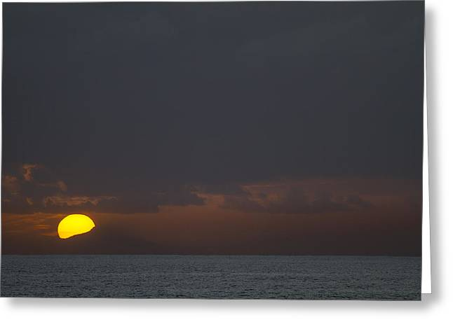 Penna Greeting Cards - Rising Sun over the Pacific Greeting Card by Tim Grams
