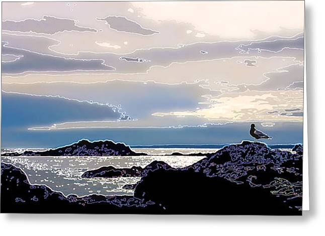 Panoramic Ocean Digital Greeting Cards - Rising Tide Greeting Card by Bill Caldwell -        ABeautifulSky Photography