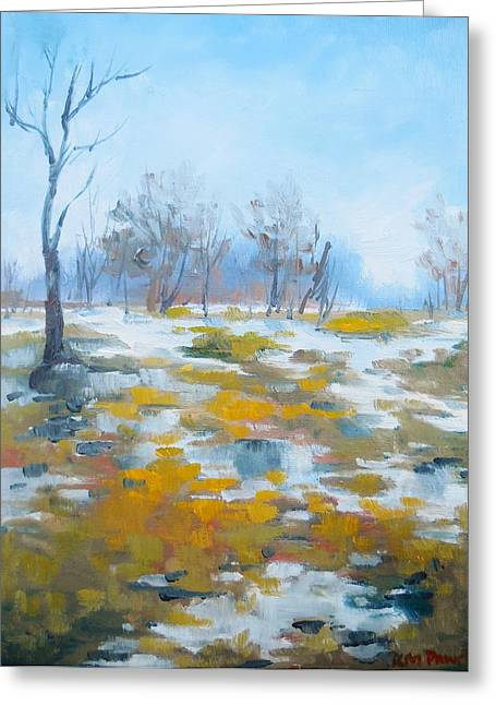 Spring Floods Paintings Greeting Cards - Rising Tide Greeting Card by K M Pawelec