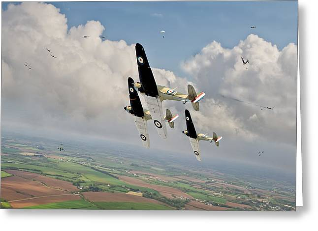 Messerschmitt Bf-109 Greeting Cards - Rising to the challenge Greeting Card by Gary Eason