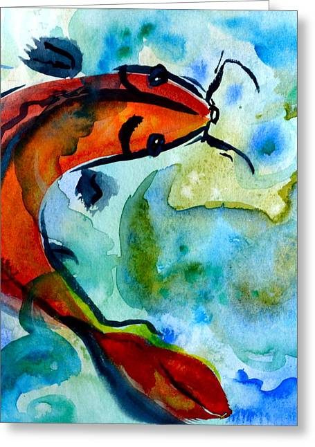 Rising To The Surface Greeting Card by Beverley Harper Tinsley
