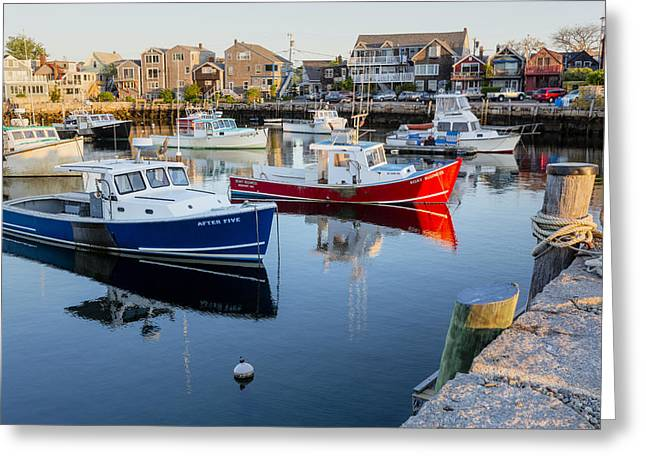 Wharf Greeting Cards - Risky Business After Five Greeting Card by Susan Candelario