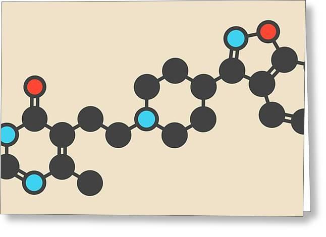 Risperidone Antipsychotic Drug Molecule Greeting Card by Molekuul