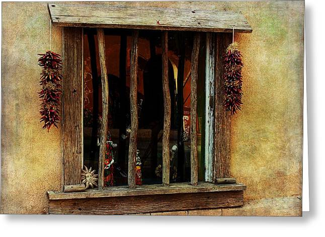 Bchichester Greeting Cards - Ristra Window Greeting Card by Barbara Chichester