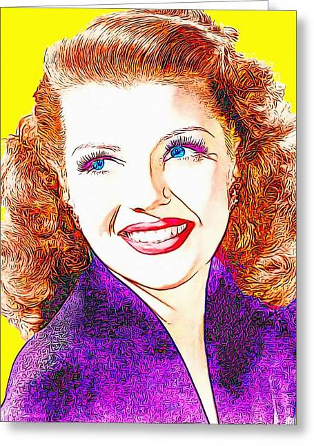 Rita Hayworth Greeting Cards - Rita Hayworth Greeting Card by Art Cinema Gallery