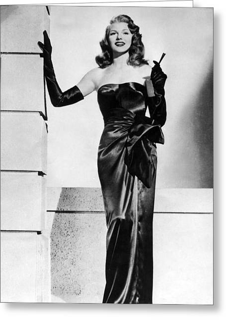 Publicity Shot Photographs Greeting Cards - Rita Hayworth Glamour Photo Greeting Card by Nomad Art And  Design