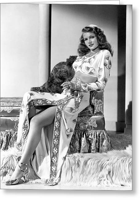 Film Noir Greeting Cards - Rita Hayworth in Gilda Greeting Card by Nomad Art And  Design