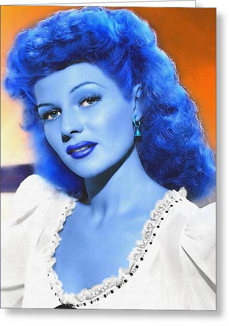 Rita Hayworth Greeting Cards - Rita Hayworth in The Lovers of Carmen Greeting Card by Art Cinema Gallery