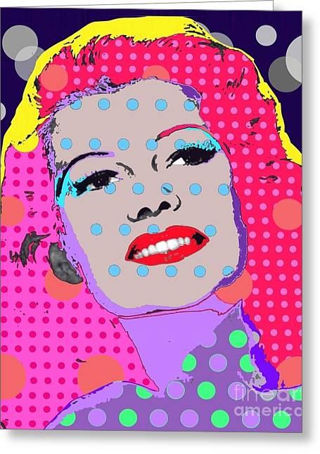 Rita Hayworth Greeting Cards - Rita Hayworth Greeting Card by Ricky Sencion