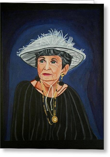Sandra Marie Adams Greeting Cards - Rita of Queen Street Greeting Card by Sandra Marie Adams