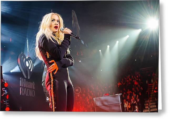 British Celebrities Greeting Cards - Rita Ora in Concert Greeting Card by SartorialPhotos Wire Service
