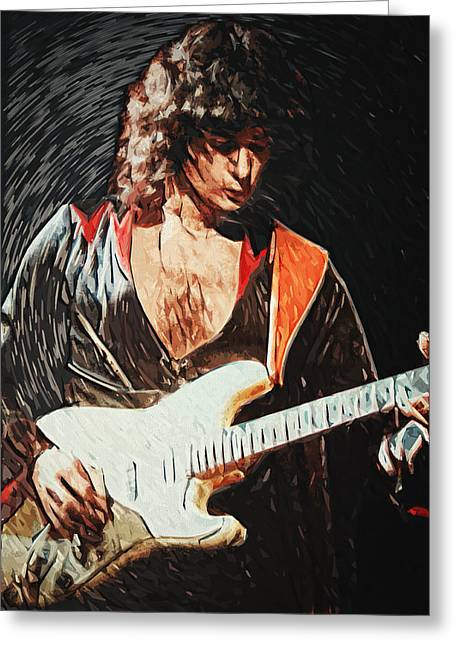 Bar Greeting Cards - Ritchie Blackmore Greeting Card by Taylan Soyturk