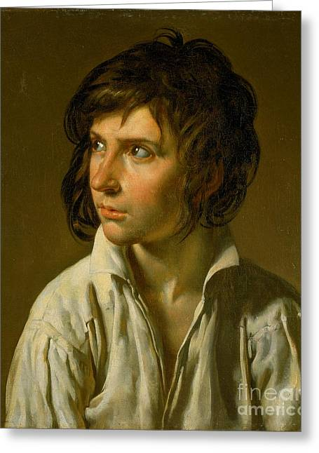 Girodet Greeting Cards - Ritratto di una giovane Greeting Card by Celestial Images