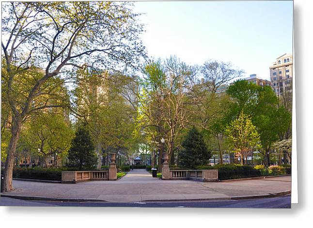Rittenhouse Square Greeting Cards - Rittenhouse Square in May Greeting Card by Bill Cannon
