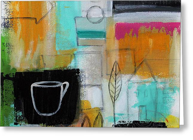 Arrow Abstract Greeting Cards - Rituals- Contemporary Abstract Painting Greeting Card by Linda Woods