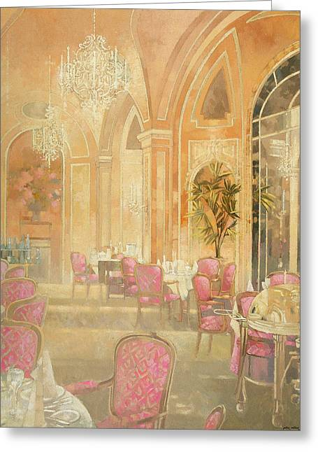 Chandelier Greeting Cards - Ritz 1 Greeting Card by Peter Miller