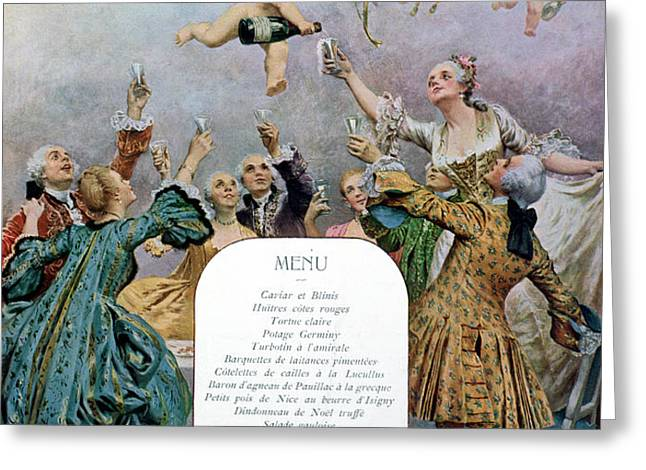 Ritz Restaurant Menu Greeting Card by Maurice Leloir