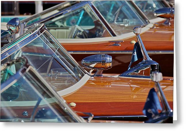 Mahogany Greeting Cards - Riva Aquarama Runabouts Greeting Card by Steven Lapkin