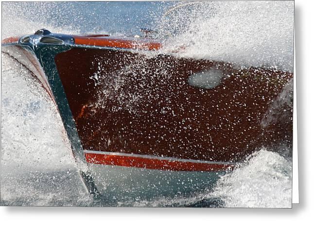H2omark Greeting Cards - Riva Aquarama Splash Greeting Card by Steven Lapkin
