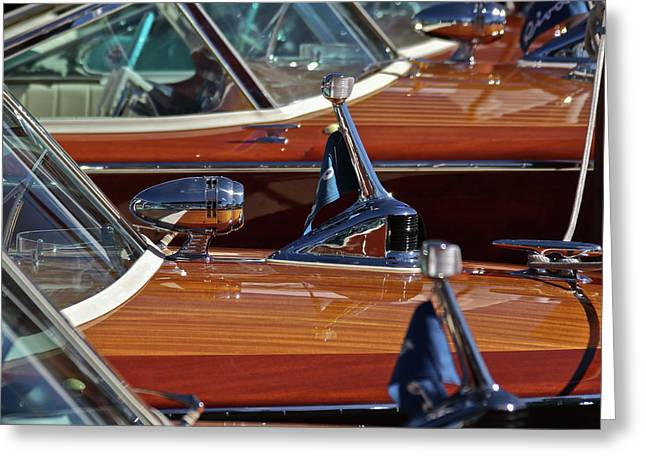 Mahogany Greeting Cards - Riva Flags Greeting Card by Steven Lapkin