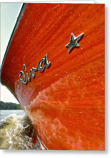 Runabout Greeting Cards - Riva Marque Greeting Card by Steven Lapkin