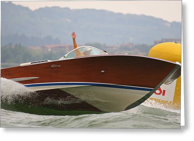 Mahogany Greeting Cards - Riva Olympic  Greeting Card by Steven Lapkin