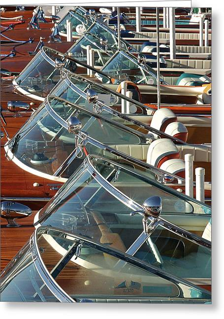 Ensign Greeting Cards - Riva Row Greeting Card by Steven Lapkin