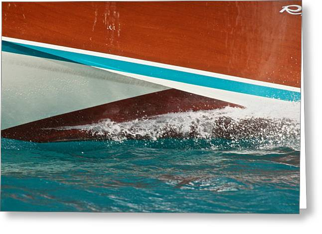 Runabout Greeting Cards - Riva Greeting Card by Steven Lapkin