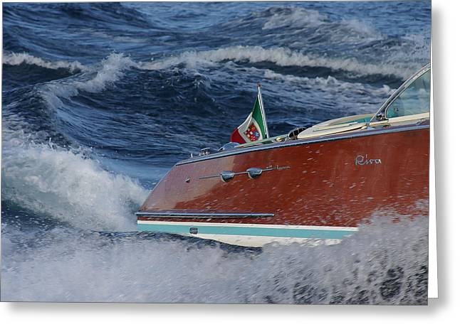 Riva Greeting Cards - Riva Swoosh Greeting Card by Steven Lapkin