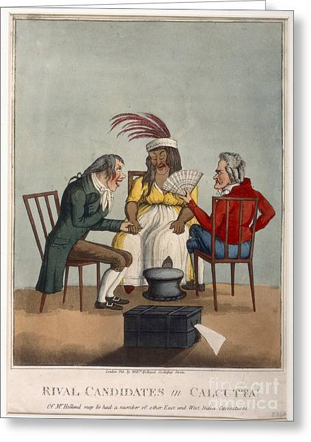 Caricature Photographs Greeting Cards - Rival Candidates In Calcutta Greeting Card by British Library