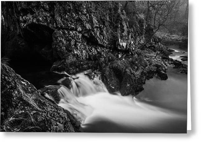 Tranquility Greeting Cards - Rival Falls Waterfall. Greeting Card by Daniel Kay