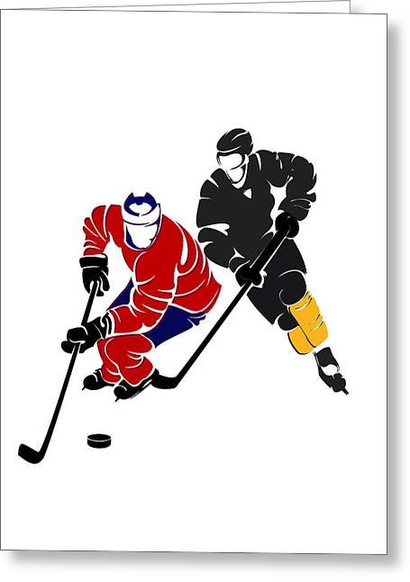 Boston Iphone Cases Greeting Cards - Rivalries Canadiens And Bruins Greeting Card by Joe Hamilton