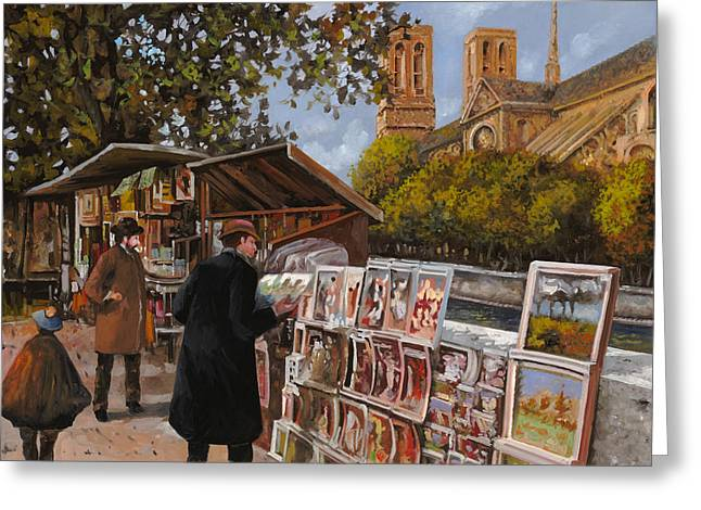 Ile Greeting Cards - Rive gouche Greeting Card by Guido Borelli