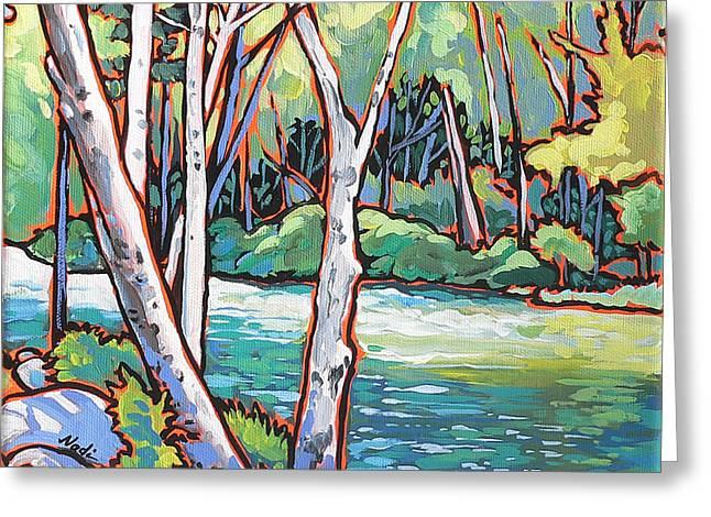 River 4 Greeting Card by Nadi Spencer
