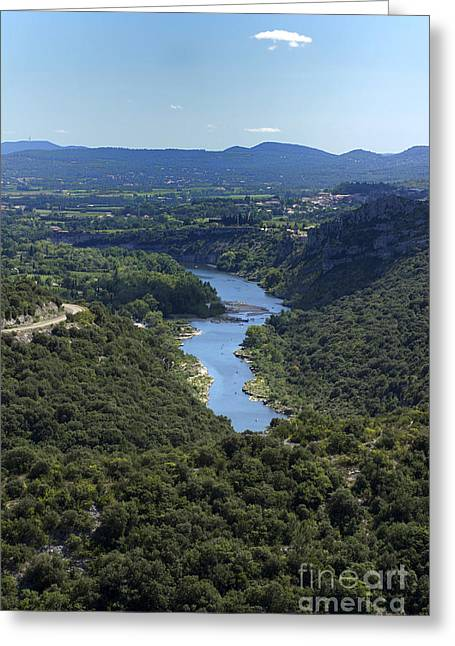 River Ardeche. France Greeting Card by Bernard Jaubert