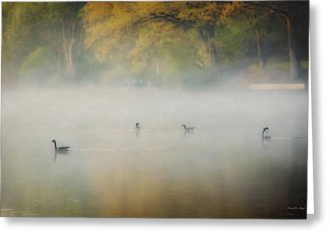 River at Sunrise Greeting Card by Everet Regal