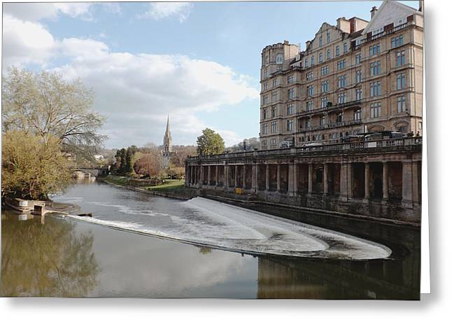 Pulteney Bridge Greeting Cards - River Avon in Bath Greeting Card by Rumyana Whitcher