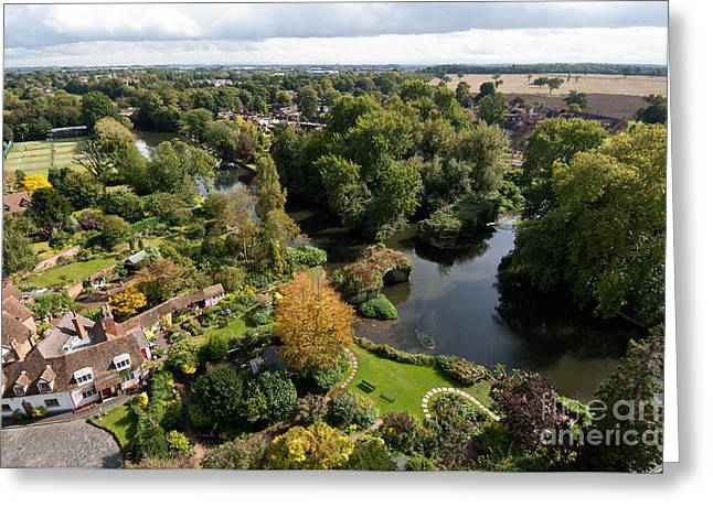 Warwick Greeting Cards - River Avon Greeting Card by Rick Piper Photography