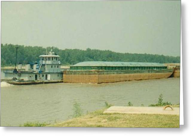 Arkansas Greeting Cards - River Barge Greeting Card by Danny Hicks