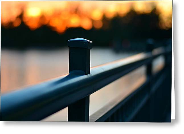 Laurarama Digital Greeting Cards - River Bridge Greeting Card by Laura  Fasulo