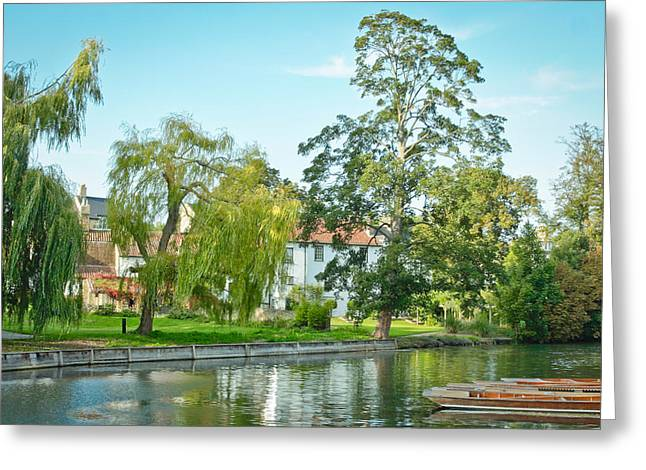 Cam Greeting Cards - River Cam Greeting Card by Tom Gowanlock