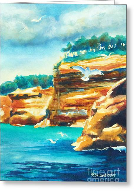 River Cliffs 2 Greeting Card by Kathy Braud