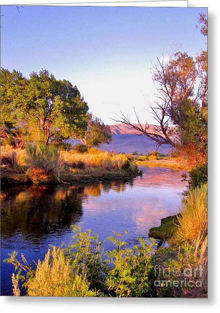 Bishop Hill Greeting Cards - River Colors Greeting Card by Marilyn Diaz