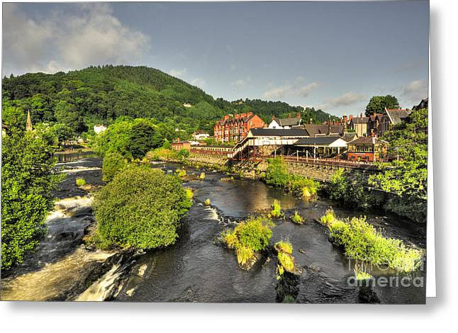 River Dee Greeting Cards - River Dee at Llangollen  Greeting Card by Rob Hawkins